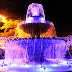 Illuminazione led fontana fissa