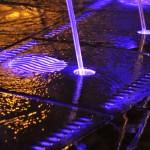 Illuminazione led fontana a pavimento