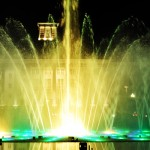 Illuminazione led RGB fontana danzante